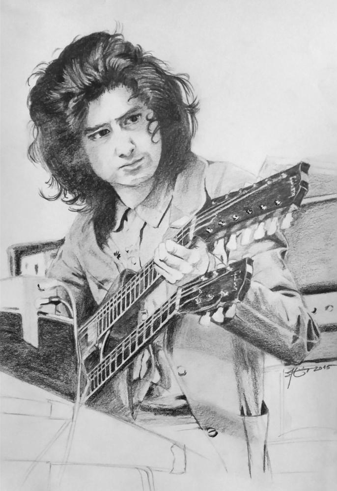 Jimmy Page by metaldrawings